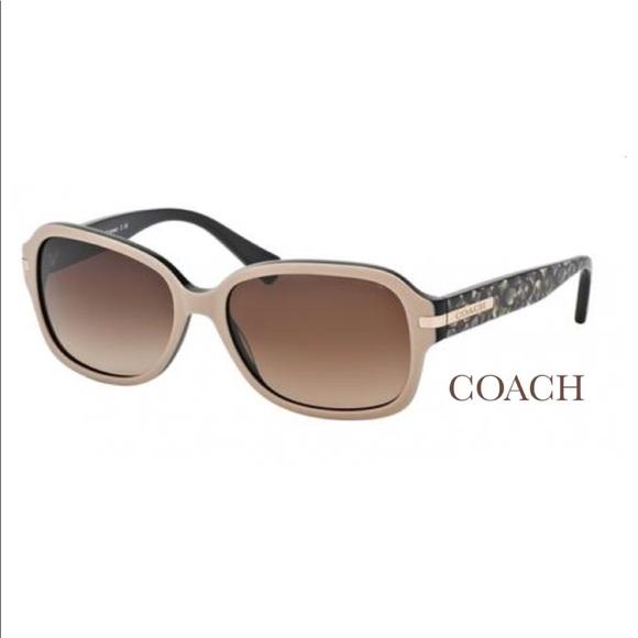 """Coach Accessories - COACH 💛 """"AMBER"""" SUNGLASSES Ocelot Beige Black"""